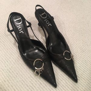 Christian Dior black stilettos