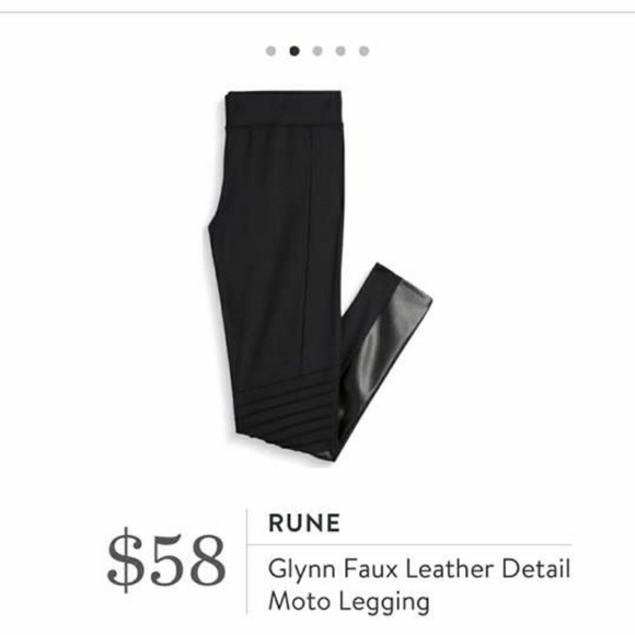 better cheap for sale entire collection NWT Rune Glynn Faux leather detail moto leggings NWT