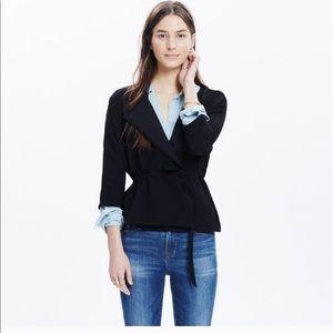 EUC Madewell Black Crepe Wrap shirt - Size L