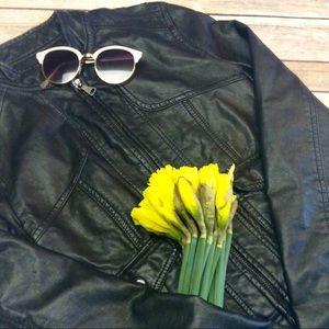 Black Rivet Jackets & Blazers - Black Rivet faux leather jacket