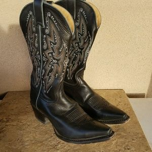Shoes - Sonora Black Cowboy Boots 8.5