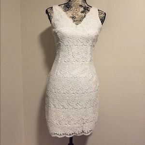 Ann Taylor Dresses & Skirts - White Scalloped Lace Dress