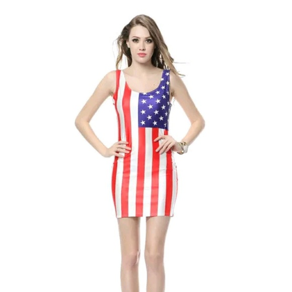 Sexy american flag dress