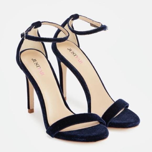 36% off Steve Madden Shoes - BLUE VELVET HIGH HEEL SANDALS from ...