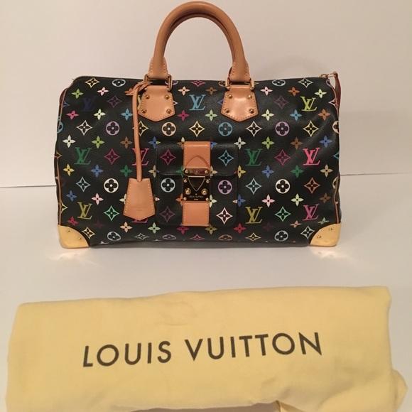b92542b7853 Louis Vuitton Handbags - Authentic Louis Vuitton Speedy 40 Multicolore Noir