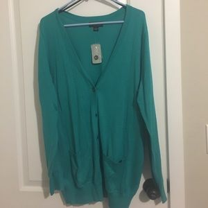NWT teal Forever21 longline cardigan sz 1x