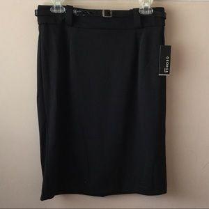 NWT Classic Ponte Black Pencil Skirt
