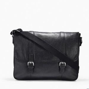Cole Haan NEW Black Leather Wayland Messenger Bag