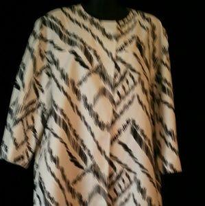 Valette Jackets & Blazers - VALETTE Black/white light weight coat, 3/4 sleeves