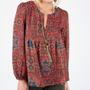 Evereve Tops - Evereve Braeve boho gypsy blouse