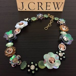 J. Crew Jewelry - J. Crew Floral Statement Necklace With Box & Bag