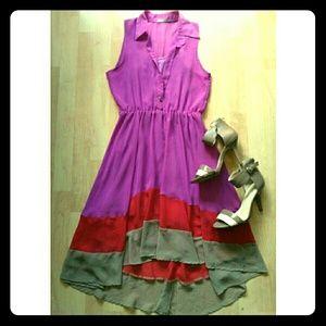 West Kei Dresses & Skirts - New!🎉🎇Summer Hi-Low Layered Dress