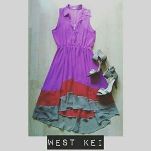 West Kei Dresses & Skirts - Summer Hi-Low Layered Dress