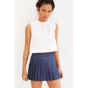 Urban Outfitters Pants - Silence+noise Navy Blue Pleated Skort 10