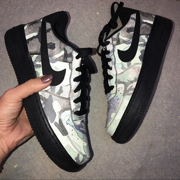 nike air force 1 low reflective woodland camo