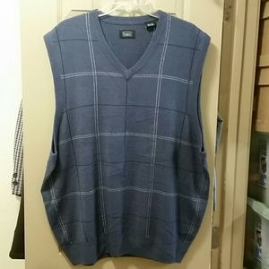 Haggar Other - NEW HAGGAR BLUE MENS LIGHTWEIGHT GOLF SWEATER VEST