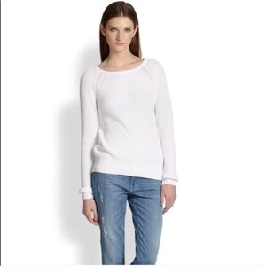 Vince white cotton sweater-NWT- size small.