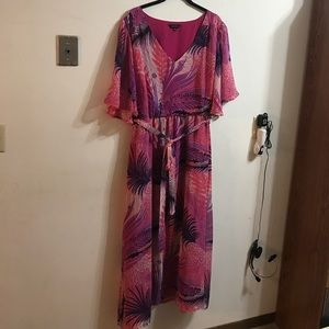 Jeffrey & Paula Dresses & Skirts - Floral maxi dress with semi-sheer angel sleeves