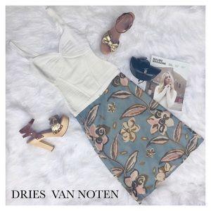 Dries Van Noten Dresses & Skirts - DRIES VAN NOTEN BLUE FLORAL SKIRT