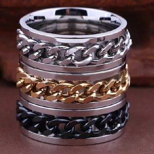 Other - Silver gold & black stainless steal spinner rings