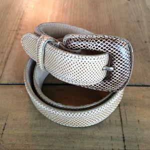 WCM Genuine Reptile belt