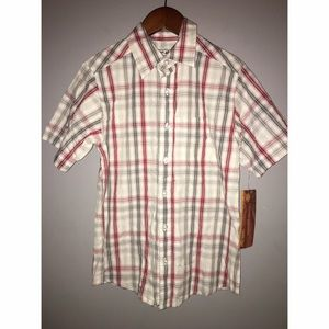 NEW Boys Short Sleeve Button Down Sz 8