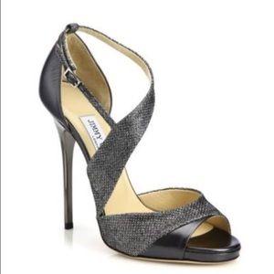 Jimmy Choo Shoes - Jimmy Choo Tyne 100 Metallic Heeled Sandal