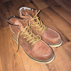 Red Wing Shoes Other - Size 10 Red Wing Shoes Full Lace Boots Brown