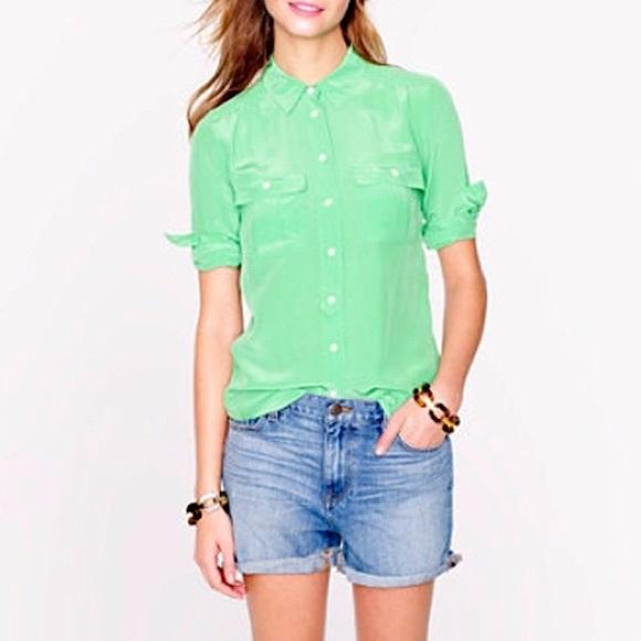 J. Crew Tops - J Crew Blythe silk blouse size 6