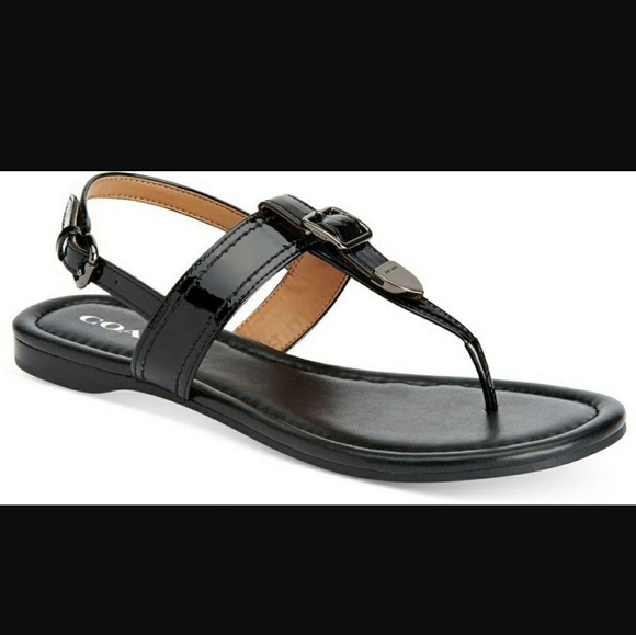 bbcf05733f63e NWT Coach Cassidy T strap patent leather sandals