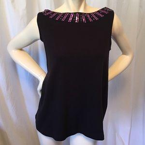 Relativity Tops - Relatively plus size embellished sleeveless top