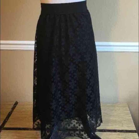 93aeb083d LuLaRoe Skirts | Black Lace Lola | Poshmark