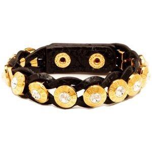 Henri Bendel Leather Rivet Wrap Bracelet
