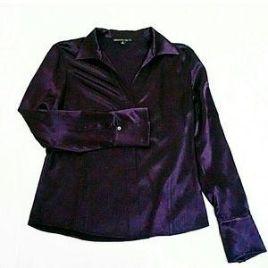 Lafayette 148 New York Tops - Lafayette 148 Purple Silk Button Down