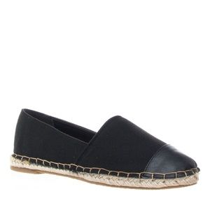 Bamboo Shoes - BAMBOO BLACK CANVAS CAP TOE ESPADRILLE FLAT