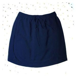 J. Crew Petite Drapey Double-Twill Skirt