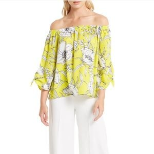 Bea Bella Couture Tops - 🆕Yellow Off the Shoulder Tie Sleeve Top