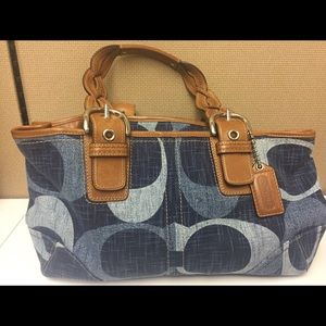 Coach Handbags - 🔥 PRICE DROP!! Denim Coach Satchel 👛