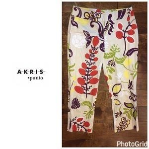 Akris Punto Pants - Akris Punto floral print pants