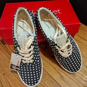"Bucket Feet Shoes - Bucketfeet ""Dots"" Lace-up Sneakers"