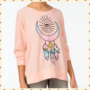 Rampage Tops - 🌟 NWT Rampage Pink Graphic Oversized Top 🌟