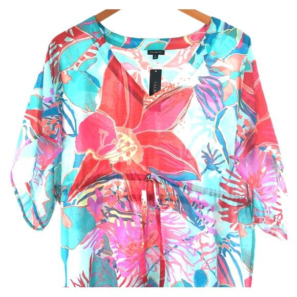 9de0b76ee9c4d Talbots Swim | Nwt Floral Beach Coverup Kimono Dress | Poshmark