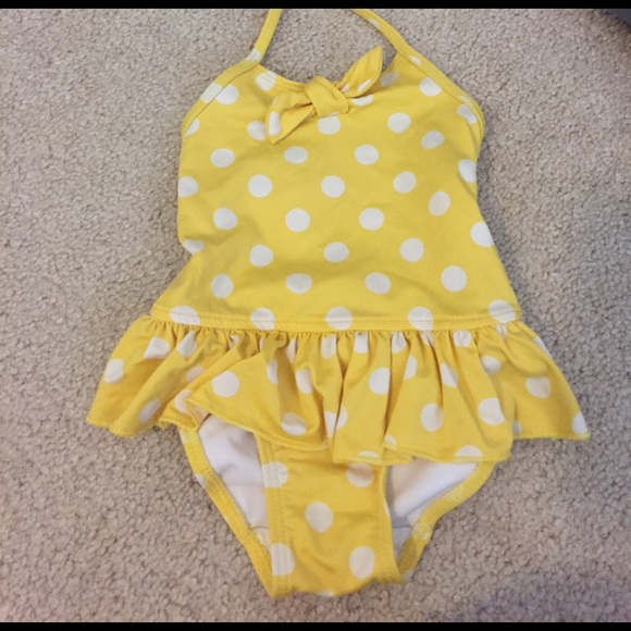 9e887a20a Tommy Hilfiger Swim | Teeny Weeny Yellow Polkadot Halter Top Suit ...