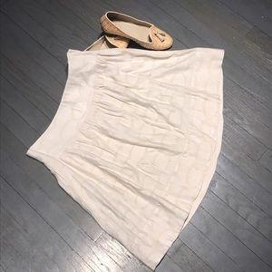Club Monaco Dresses & Skirts - Club Monaco cream circle pattern flare skirt