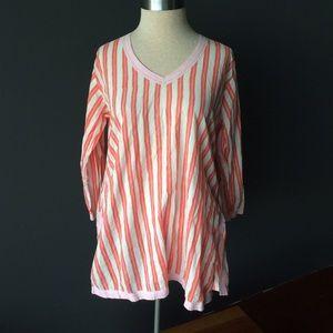 Gretchen Scott striped tunic top