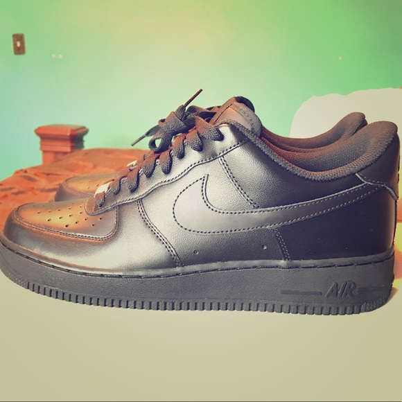 6900cac3d4 Nike Shoes | Air Force 1 Black Low Tops Size 10 | Poshmark