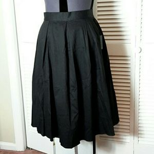 Eloquii Plus Size 26 Black Midi Skirt