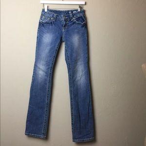 Miss Me boot cut flap pocket Jean