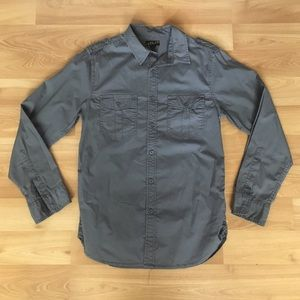 Express Other - CHEAP+NEW Helix Western Button Up Grey Sz S