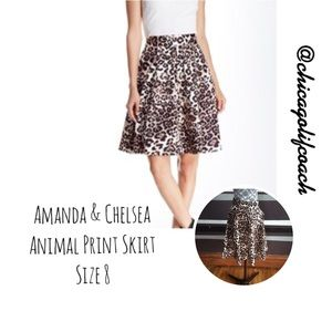 Amanda & Chelsea Dresses & Skirts - NEW Amanda & Chelsea Animal Print Skirt Size 8
